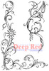 Vine Corner and Border Cling Stamp by Deep Red Stamps