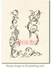 Vine Corner and Border Cling Stamp by Deep Red Stamps shown on A2 card