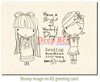 Little Cuties Sunshine Rubber Cling Stamp by Deep Red Stamps shown on A2 card