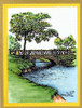Stone Bridge Rubber Cling Stamp by Deep Red Stamps colored markers