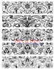 Art Deco Borders Rubber Cling Stamp by Deep Red Stamps