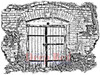 Deep Red Stamps Secret Gate Rubber Cling Stamp High Resolution
