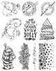 Jolly Christmas 10 cling stamp collection