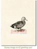 Gadwall Duck Rubber Cling Stamp by Deep Red Stamps shown on A2 card