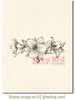 Lily Border Rubber Cling Stamp by Deep Red Stamps shown on A2 card