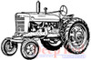 Vintage Farm Tractor Rubber Cling Stamp by Deep Red Stamps