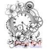 Blossom Time Rubber Cling Stamp by Deep Red Stamps