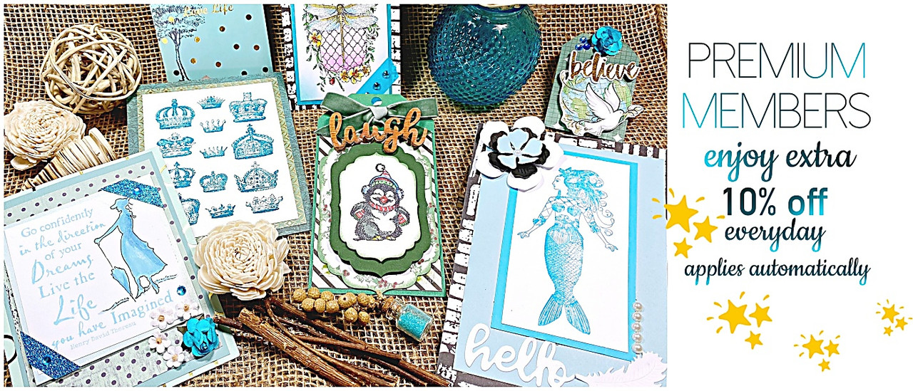 rubber stamps mermaid crown collection