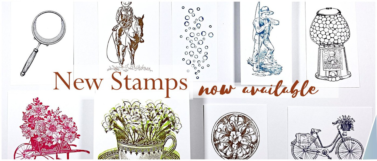 new rubber stamps vintage cowboy gumball machine and more