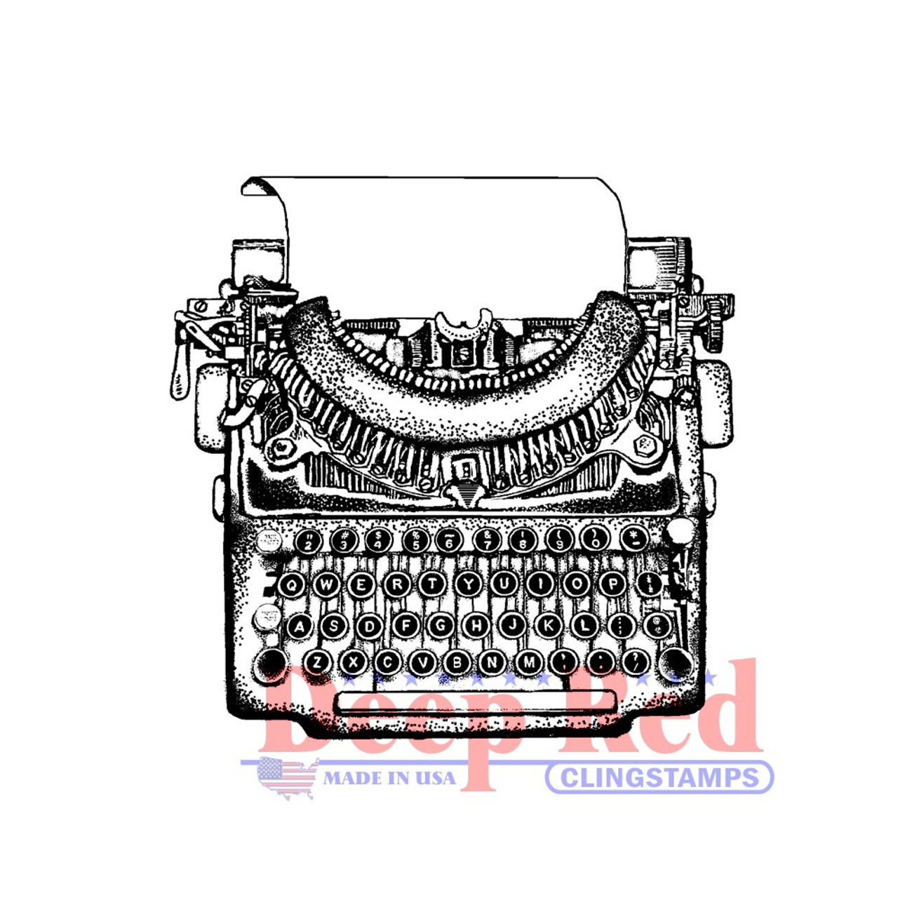 Deep Red Stamps Classic Typewriter Rubber Stamp Ink Pads Home ...