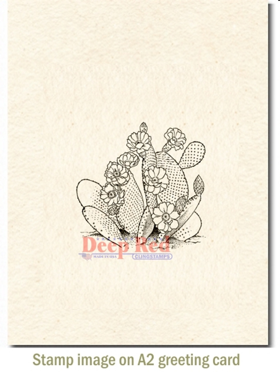 Deep Red Stamps Saguaro Cactus Rubber Cling Stamp