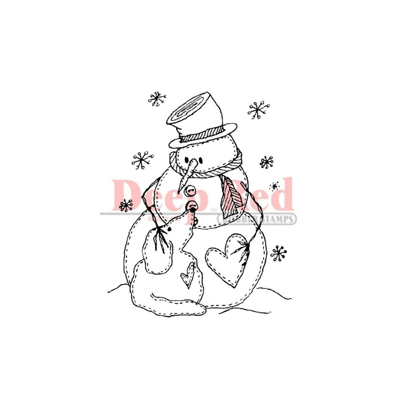 Deep Red Stamps Strawberries Rubber Cling Stamp