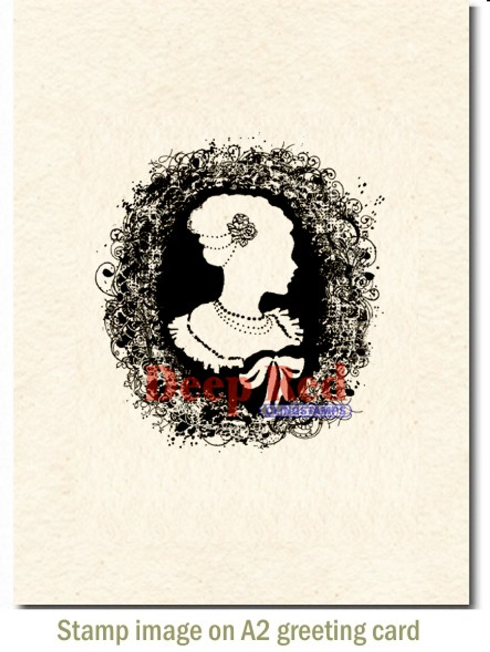 Deep Red Stamps Turkey Rubber Cling Stamp