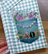 Flowers in A Pocket Get Well Card
