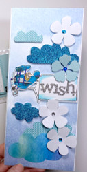 In the Clouds Tall Card and Free Cloud Template