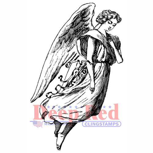 Archangel Rubber Cling Stamp by Deep Red Stamps