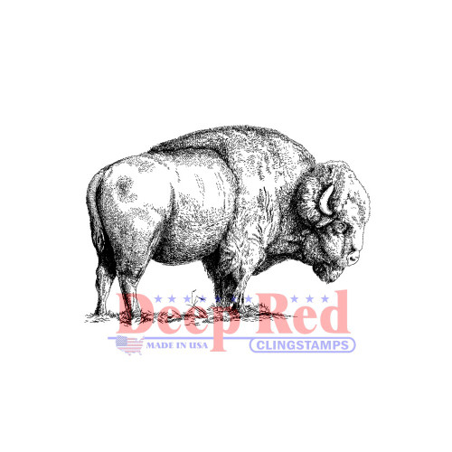 American Buffalo Rubber Cling Stamp