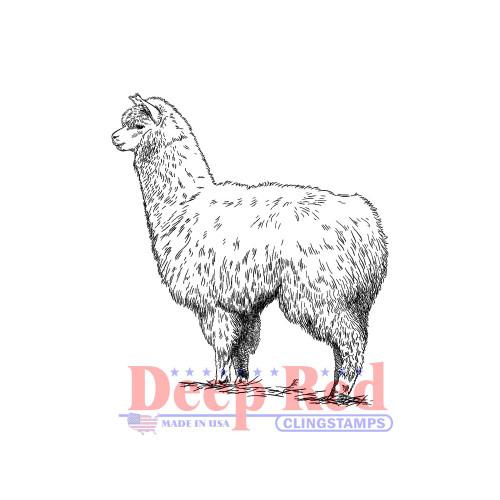Alpaca Rubber Cling Stamp