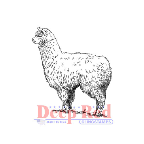 Alpaca Rubber Cling Stamp
