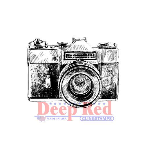 Vintage Camera Rubber Cling Stamp.