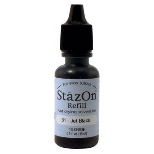 StazOn Jet Black refill 1/2 oz (0.5 oz)
