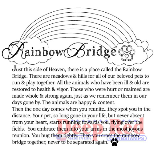 Rainbow Bridge Rubber Cling Stamp by Deep Red Stamps