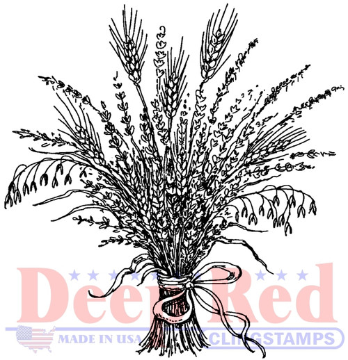 Wheat Grass Cling Stamp by Deep Red Stamps