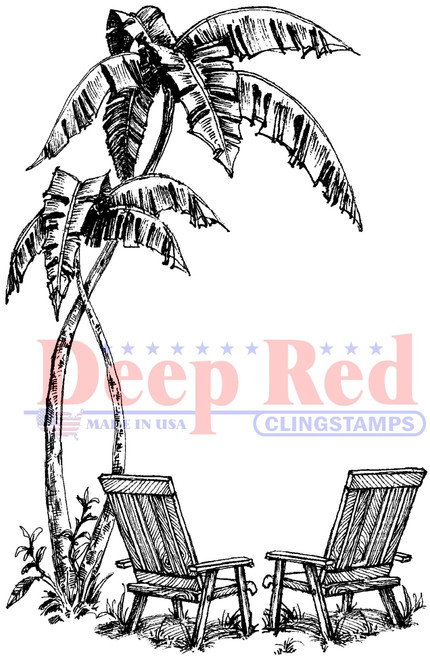 Seaside Cling Stamp by Deep Red Stamps