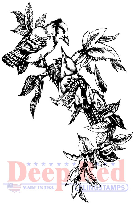 Blue Jays Cling Stamp by Deep Red Stamps