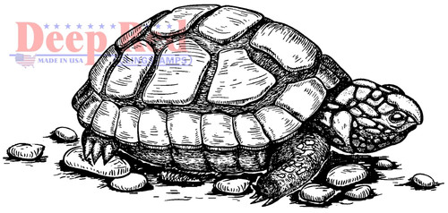 Tortoise Cling Stamp by Deep Red Stamps