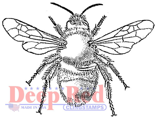 Bumblebee Cling Stamp by Deep Red Stamps