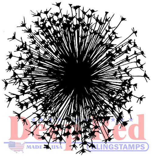 Dandelion Cling Stamp by Deep Red Stamps