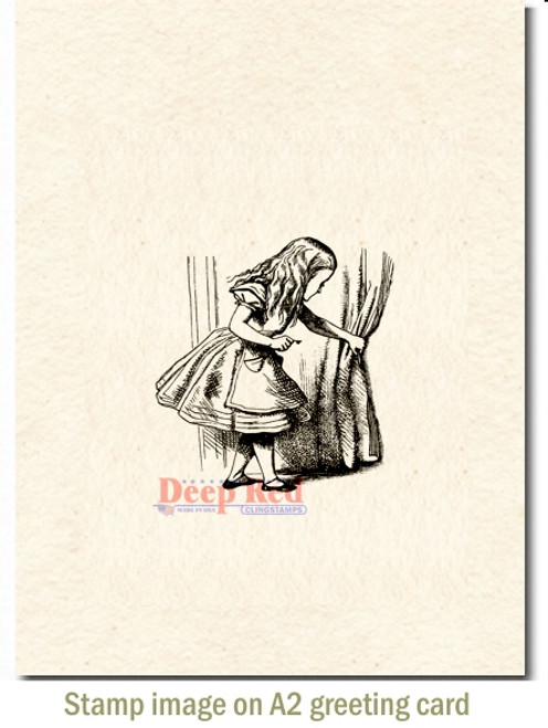 Alice Discovery Cling Stamp by Deep Red Stamps shown on A2 card