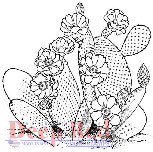 Desert Cactus Cling Stamp by Deep Red Stamps