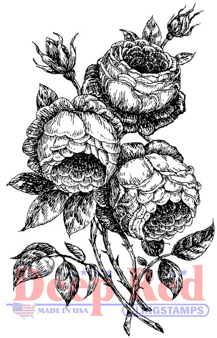 English Roses Cling Stamp by Deep Red Stamps