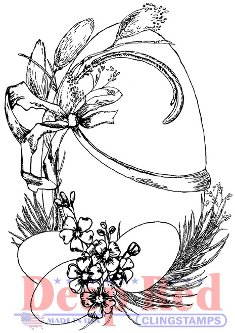 Easter Eggs Cling Stamp by Deep Red Stamps