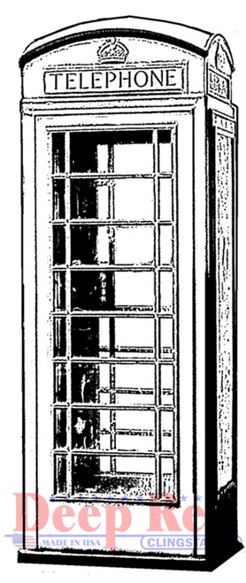 Phone Booth Rubber Cling Stamp by Deep Red Stamps
