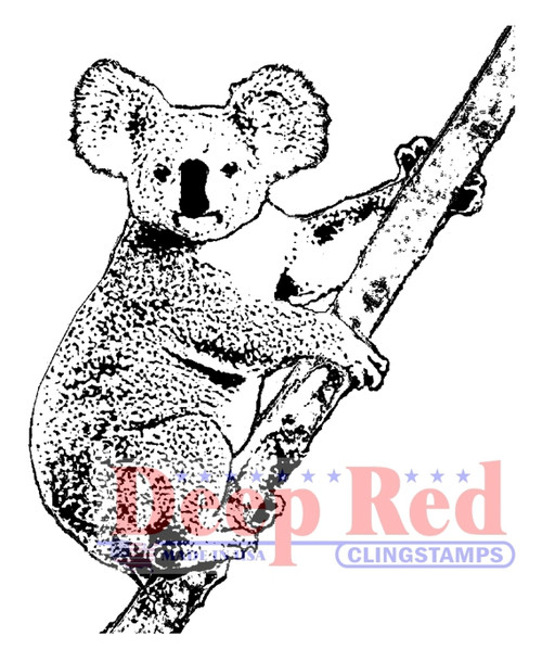 Koala Bear Rubber Cling Stamp by Deep Red Stamps