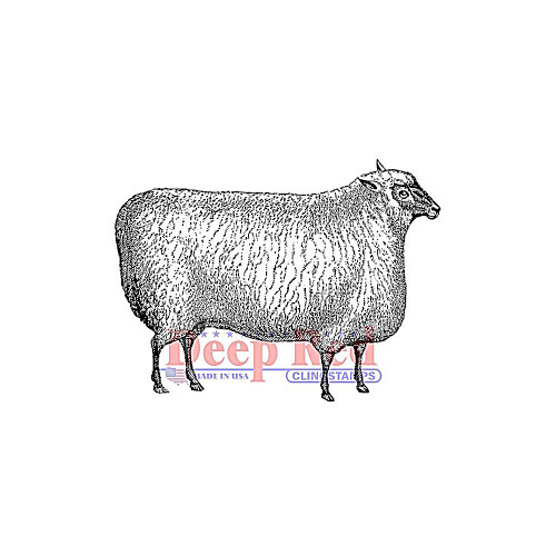 Wooly Sheep Rubber Cling Stamp