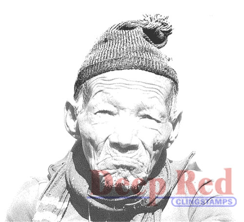 Sherpa Portrait Rubber Cling Stamp by Deep Red Stamps