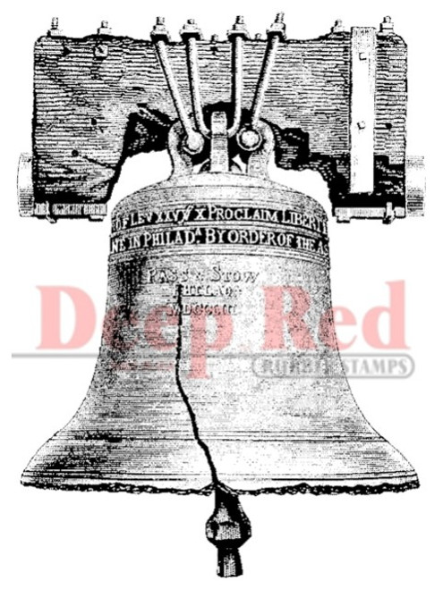 Liberty Bell Rubber Cling Stamp by Deep Red Stamps