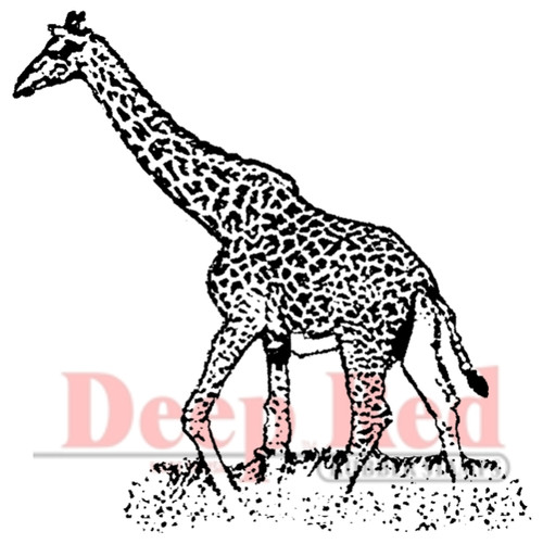 Giraffe Rubber Cling Stamp by Deep Red Stamps