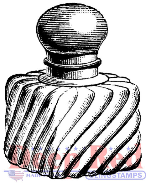 Vintage Perfume Bottle Rubber Cling Stamp by Deep Red Stamps