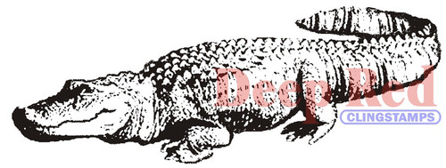 Alligator Rubber Cling Stamp by Deep Red Stamps