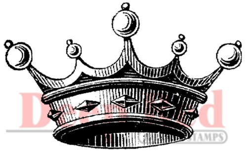 Crown for Royalty Rubber Cling Stamp by Deep Red Stamps