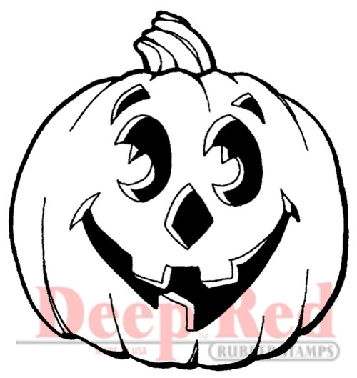 Jack-O_Lantern Rubber Cling Stamp by Deep Red Stamps