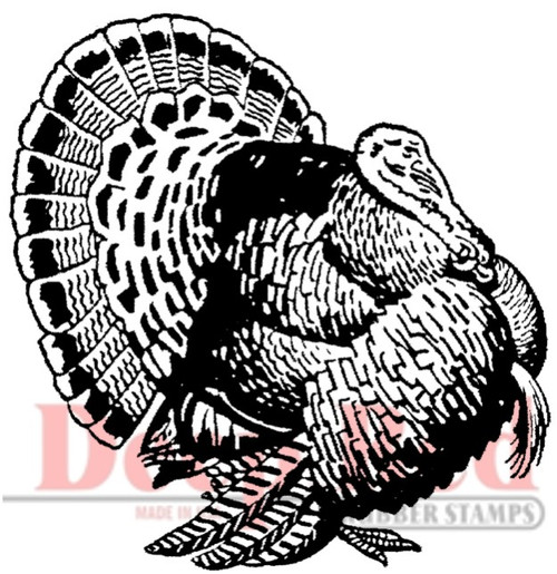 Turkey Rubber Cling Stamp by Deep Red Stamps shown