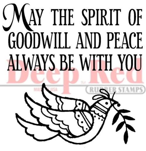 May the Spirit Rubber Cling Stamp by Deep Red Stamps