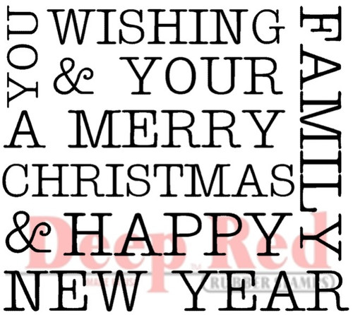 Wishing You Rubber Cling Stamp by Deep Red Stamps