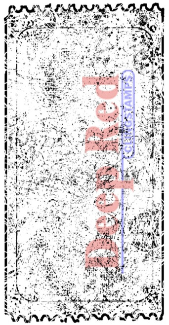 Grunge Ticket Rubber Cling Stamp by Deep Red Stamps